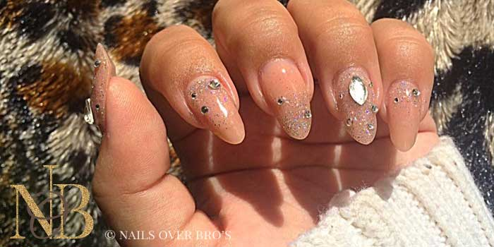 Naturel nude + strass